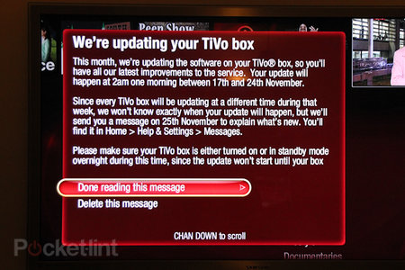 Virgin Media TiVo update could come tomorrow, 17 November