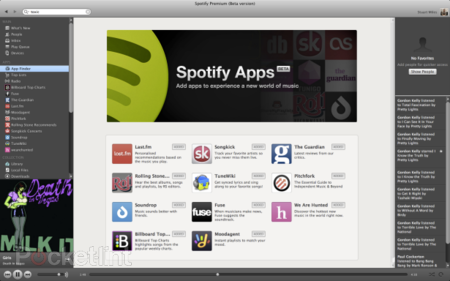 Spotify with apps pictures and hands-on