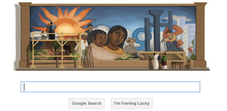 Google doodle celebrates 125th birthday of artist Diego Rivera