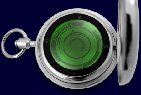 Kisai Rogue Touch retro-futuristic pocket watch lights up
