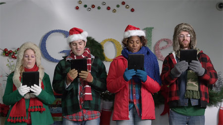 Happy Christmas, Android style (video)
