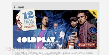 12 Days of iTunes starts with free Coldplay Album