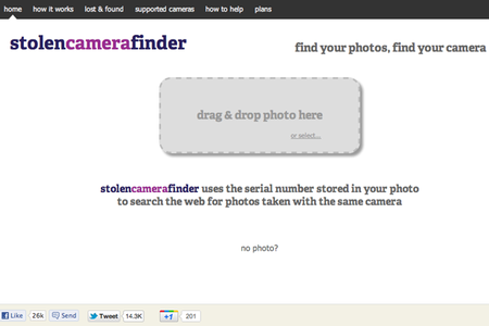 WEBSITE OF THE DAY: Stolen Camera Finder