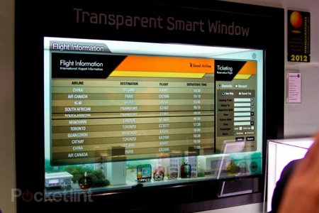 The Samsung Transparent Smart Window makes sci-fi movies a reality