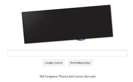 Google, Wikipedia and others go dark against SOPA