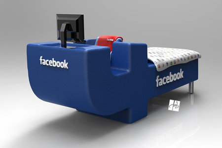 Facebook bed concept: If only you didn't have to eat