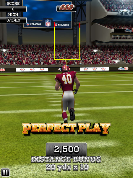 APP OF THE DAY: NFL Flick Quarterback review (iPad / iPhone / Android) - photo 10