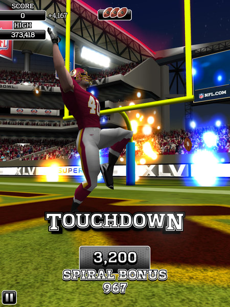 APP OF THE DAY: NFL Flick Quarterback review (iPad / iPhone / Android) - photo 11