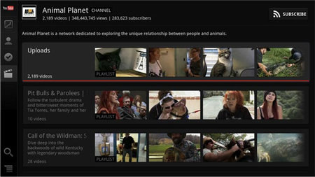 Google TV gets swanky YouTube app update