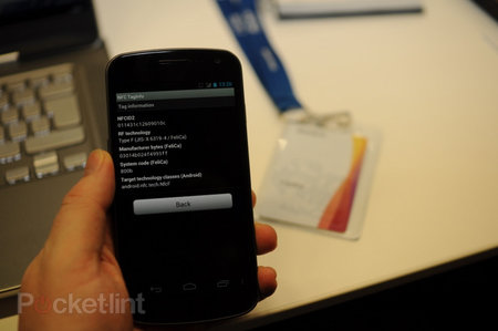 Sony Japan ID badges can be read by Samsung Galaxy Nexus