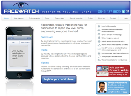 WEBSITE OF THE DAY: Facewatch