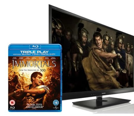 WIN: Toshiba 3D TV and Immortals on 3D Blu-ray