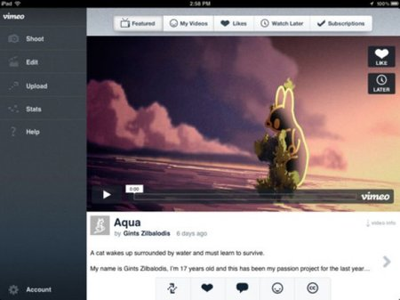 Vimeo takes on iMovie with new Apple app