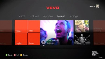 Vevo brings music videos to your Xbox