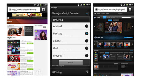 How to make your Android browser a desktop browser