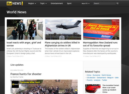 WEBSITE OF THE DAY: ITV News