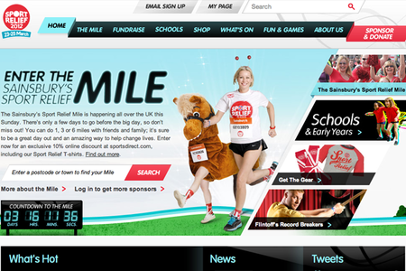 WEBSITE OF THE DAY: Sport Relief