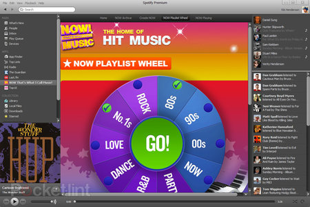 Spotify gets flood of new apps, including Now That's What I Call Music!