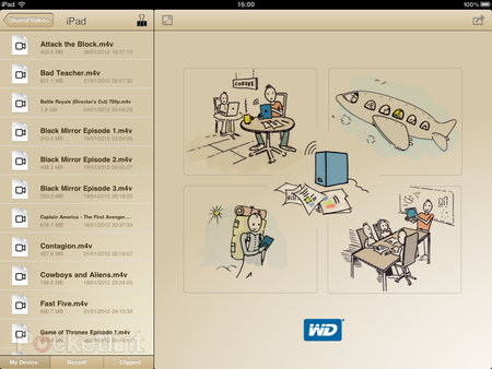 APP OF THE DAY: WD 2go Pro review (iPad / iPhone) - photo 5