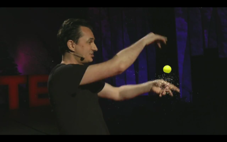 Magician uses Microsoft Kinect to wow TED crowd