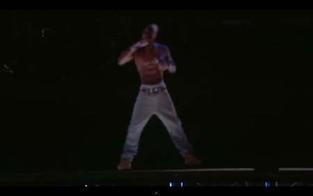 Tupac back from the dead as he performs as a hologram