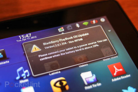 BlackBerry PlayBook 2.0.1 update rolling out now
