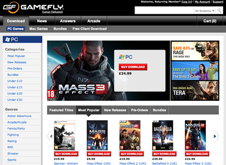 WEBSITE OF THE DAY: Gamefly