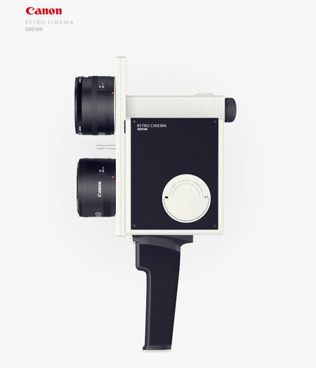 Canon Super 8 concept for those retro cinema filming moments