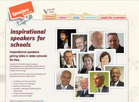 WEBSITE OF THE DAY: Speakers for Schools