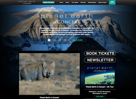 WEBSITE OF THE DAY: Planet Earth In Concert