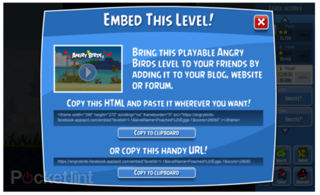 Angry Birds now playable on any website