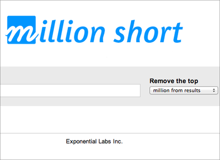 WEBSITE OF THE DAY: Million Short