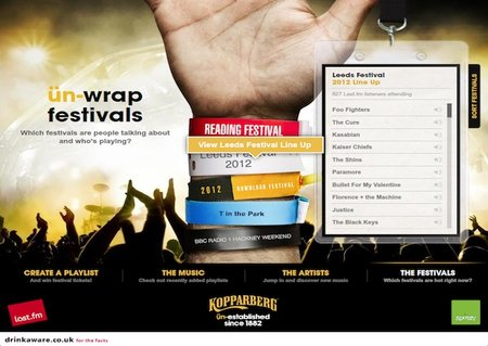 Spotify and Last.fm join forces for Kopparberg festival app