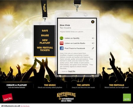 Spotify and Last.fm join forces for Kopparberg festival app - photo 3