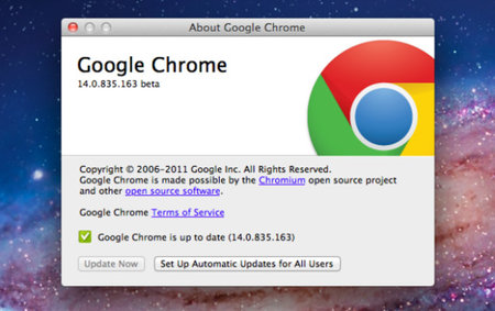 Google Chrome most popular internet browser