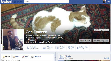 Facebook tests new Timeline design - photo 1