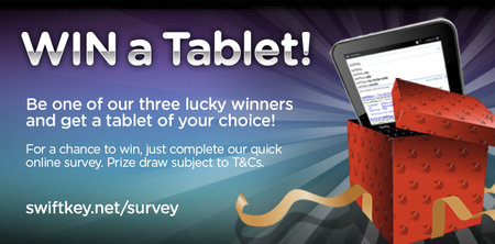 Last chance - Win a tablet with Swiftkey