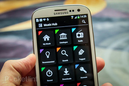 What is Samsung Music Hub and how does it compare to Spotify, Lastfm, iTunes and others?