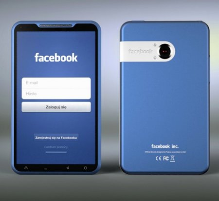 The Facebook Phone concept that is very blue