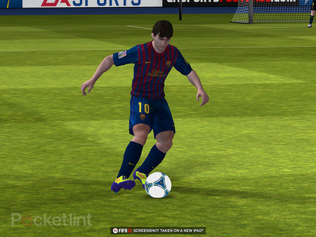 Yep, these FIFA 13 screens really are from the iOS version