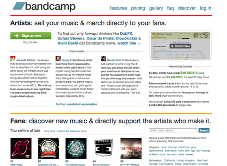 WEBSITE OF THE DAY: Bandcamp