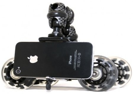 iStabilizer's Dolly gives your smartphone four wheels for the perfect steady panoramic shot