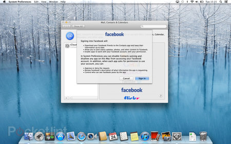 Facebook in OS X Mountain Lion details, we go hands-on