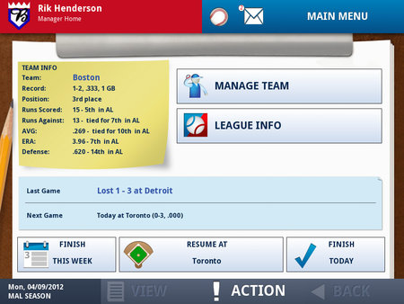 APP OF THE DAY: iOOTP Baseball 2012 Edition review (iPad / iPhone / iPod touch) - photo 3