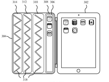 Apple patent iPad Smart Cover with second flexible display