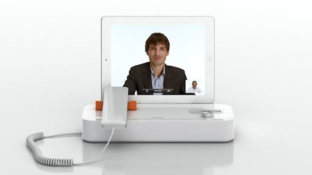 AudiOffice dock brings a wired handset to iOS video calls
