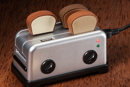 Get a slice of the action with the USB Toaster Hub