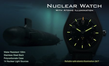 Nuclear wristwatch that's built to last 25 years