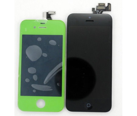 Supposed iPhone 5 front panel next to iPhone 4S shows us the differences
