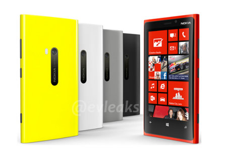 The five new colours of the new Lumia 920